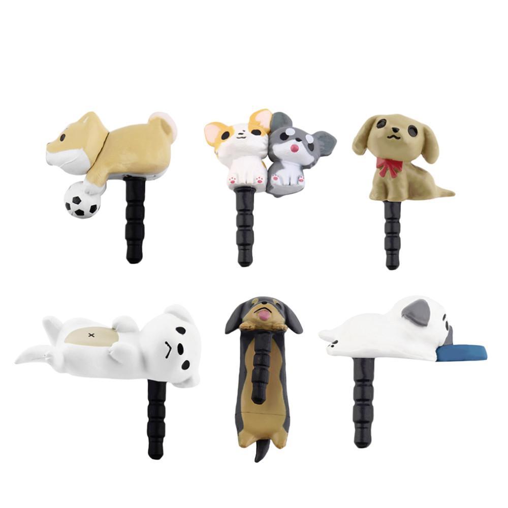 d8c84b89f630ef Niconico Nekomura Universal Cute Puppy Dog 3.5mm Anti Dust Earphone ...