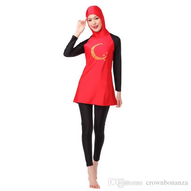 Women Modest Long Sleeve Muslim Swimwear Flower Print Full Coverage Swimsuit High Quality Islamic Swim Wear Burkinis