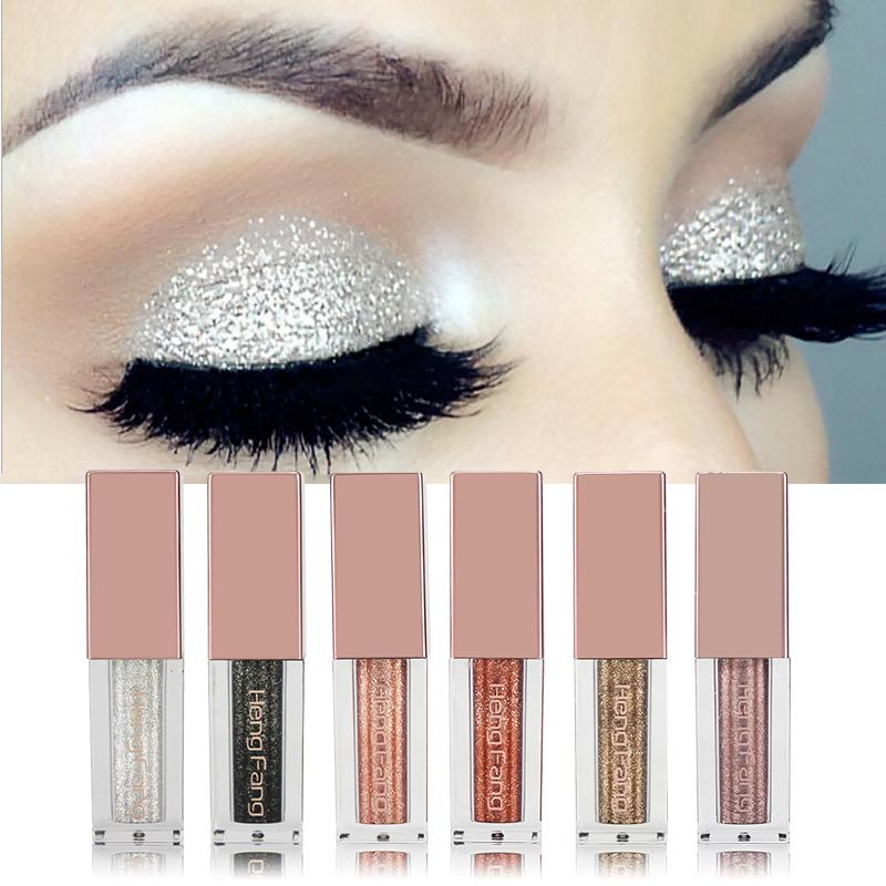 2017 New Hengfang Brand Cosmetics Waterproof Eyes Shadow Long Lasting Warm Color Gold Nude Shimmer Liquid Eyeshadow Makeup Beauty & Health