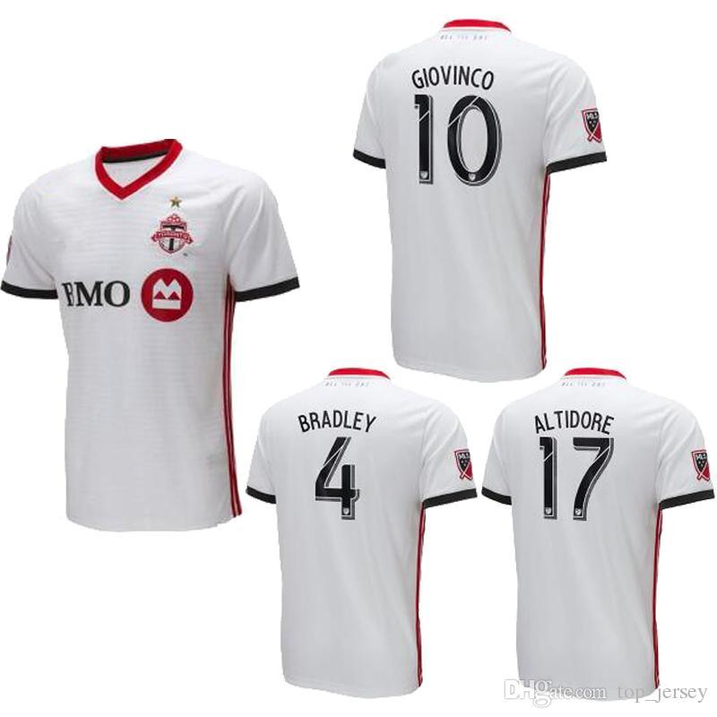 Compre Toronto FC Camisa De Futebol Thai Qualidade 2018 BRADLEY GIOVINCO  OSORIO ALTIDORE Camisa 18 19 MLS Toronto Longe Camisa De Futebol Branco De  ... 0dfb7ac93cc01