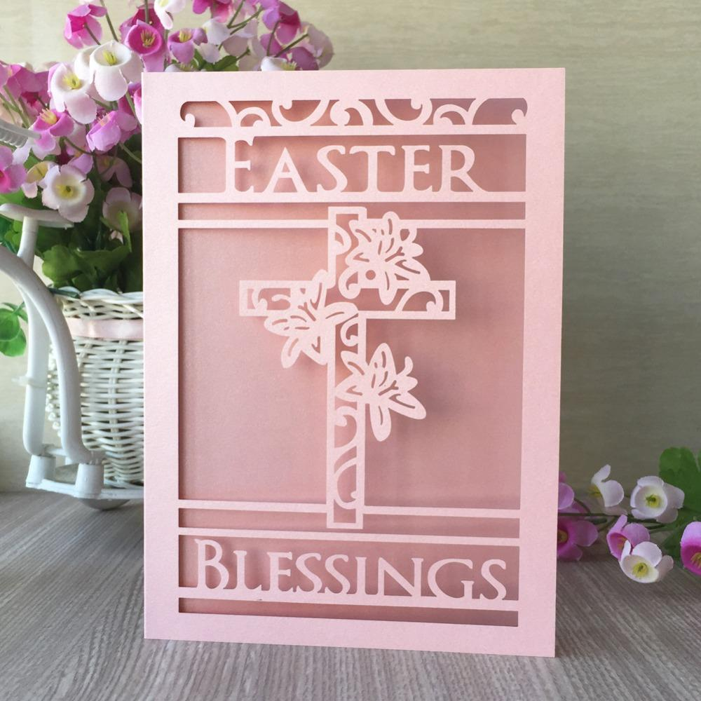Laser Cut Pearl Paper Easter Theme Blessing Card Cross Pattern Wedding  Invitation Card Birthday Party Decoration Card Cheap Beach Wedding  Invitations Cheap ... 54d0082591ed