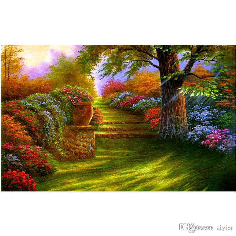 5D DIY diamond embroidery full square diamond painting cross stitch fashion home decoration color garden