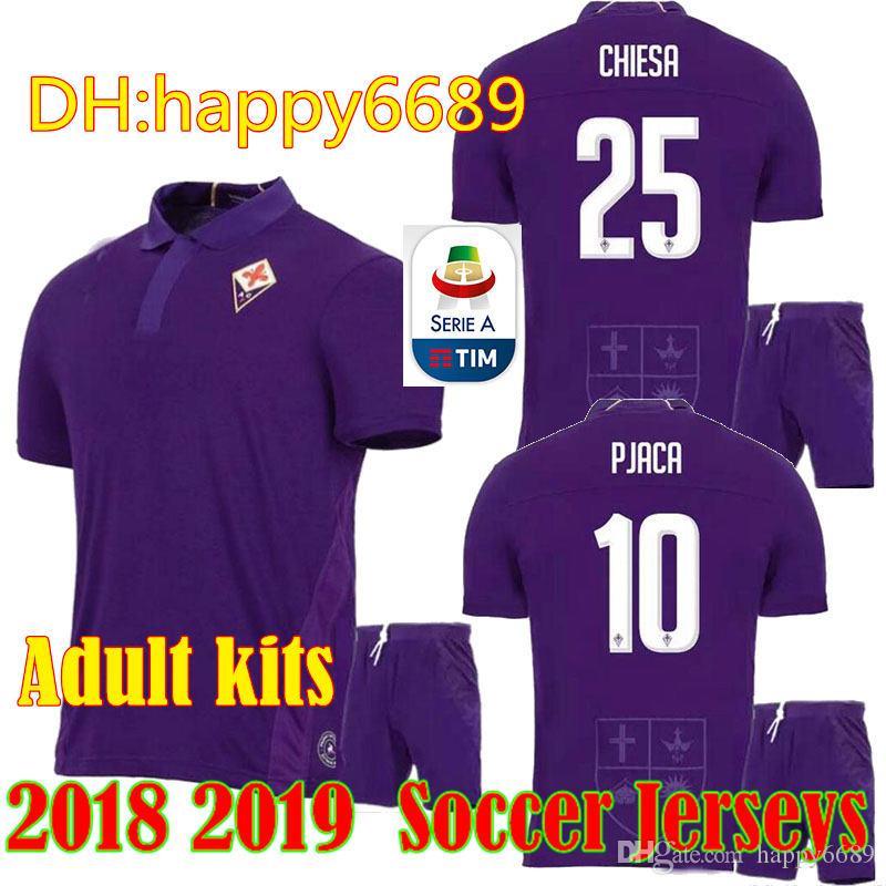 8d142c7fb17 2019 2018/19 ACF Fiorentina Kits Soccer Jerseys Chiesa Simeone Gerson  Futbol Camisa Football Camisetas Shirt Maillot From Happy6689, $17.26 |  DHgate.Com