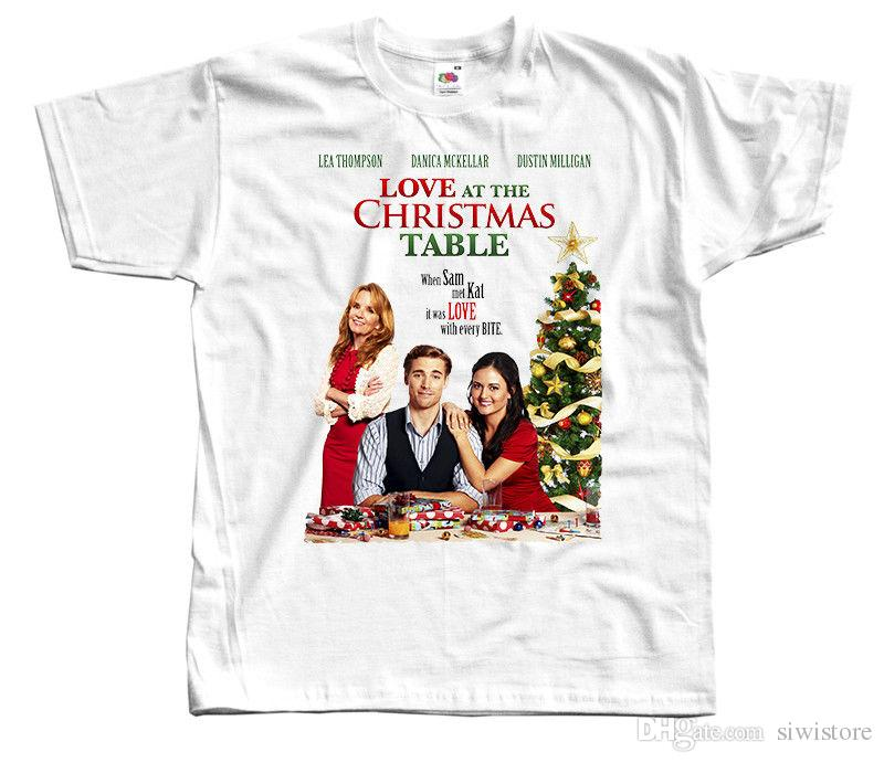 Love At The Christmas Table Movie Poster Christmas T Shirt Dtg