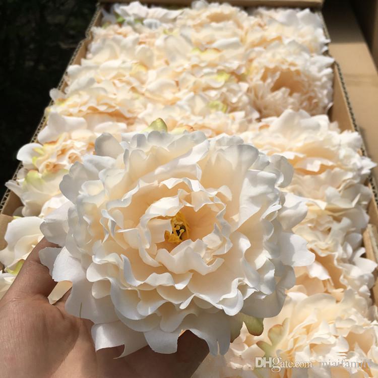 искусственные цветы Шелковый Пион цветок головы свадебные украшения партии поставок моделирования поддельные цветок глава украшения дома Оптовая 15 см