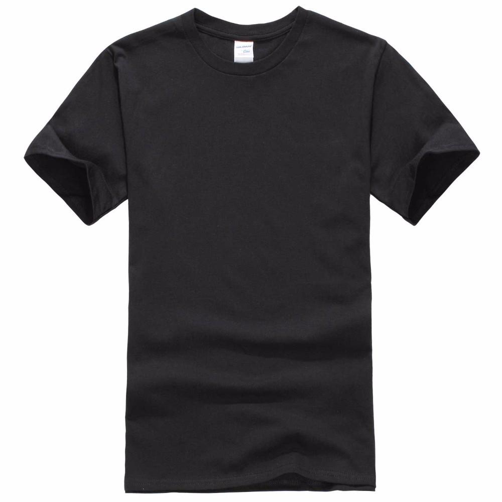 2018new Solid Color T Shirt Mens Black And White 100 Cotton T