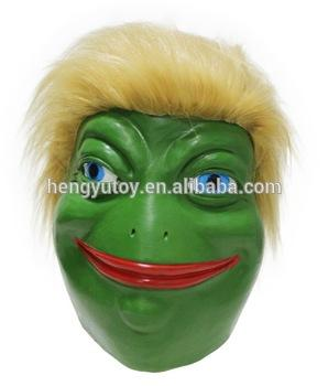 The Frog Pepe Latex Comic Meme Frog Trump Mask Masquerade Male Masks