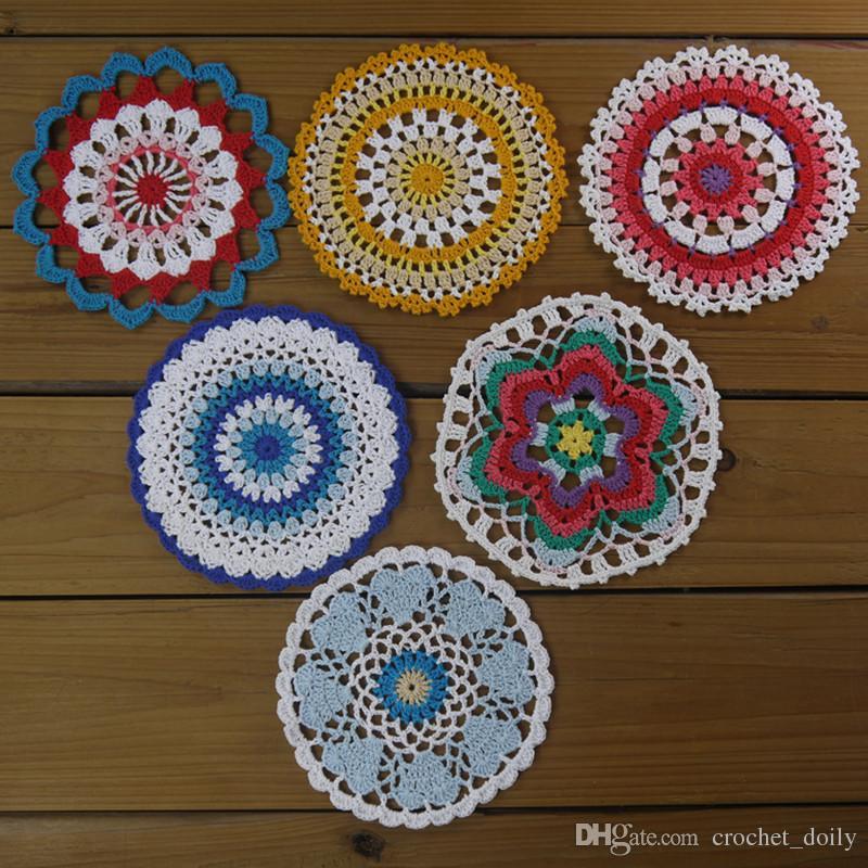 2019 Design Mandala Doily Crochet Round Lace Crochet Doily Mandala