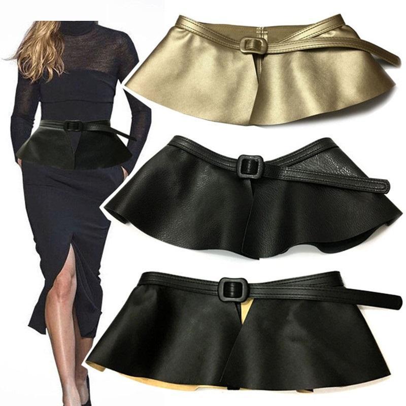 Acheter Mode Black Corset Large Pu Cuir Minceur Ceintures Pour Femmes  Élastique Taille Haute Ceinture Amovible Femelle Cinturon Mujer Cinto De   21.76 Du ... 6eefd2ef429