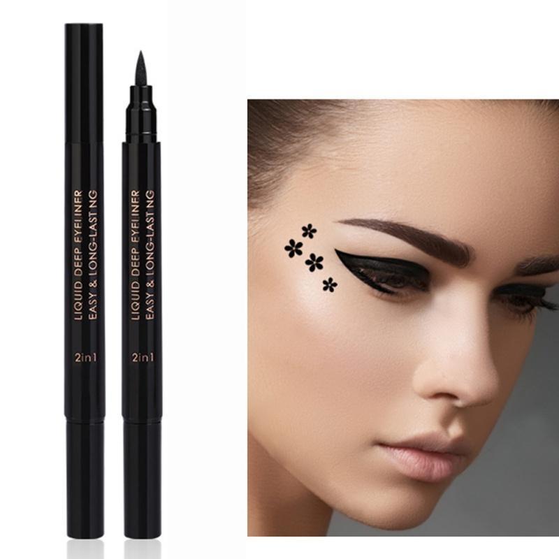 Fashion Pentagram Stamp Eyeliner Nature Long Lasting Waterproof Easy To Wear Eyeliner Pen 3 Types Can Choose 3003 Elf Cosmetics Eyeliner From Grega, ...