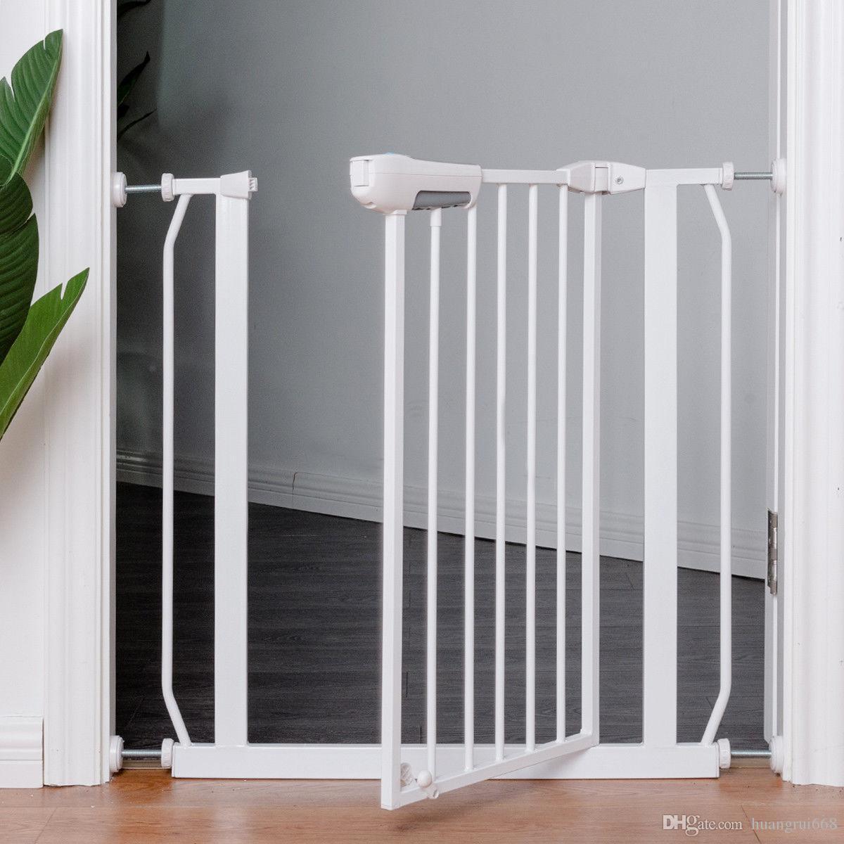 2018 Easy Locking System Kids Baby Pet Safety Gate Door Walk Through