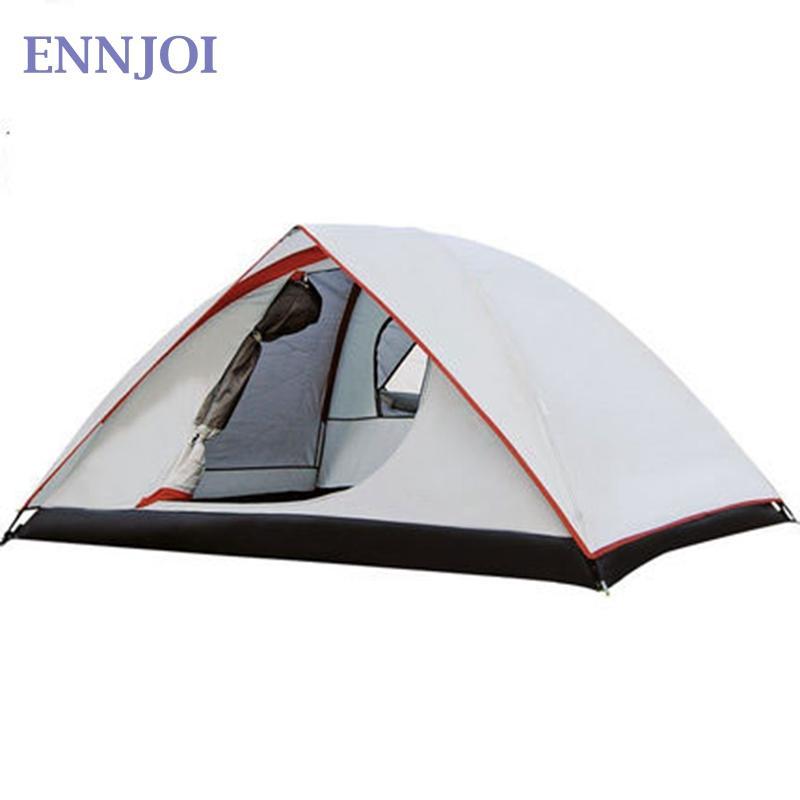 57be293bbb89e4 Großhandel 2Person Wasserdicht Winddicht 190T PU Camping Zelt Doppelschicht  Outdoor Wandern Rucksack Ultralight Familie Camping Zelt Von Kuyee