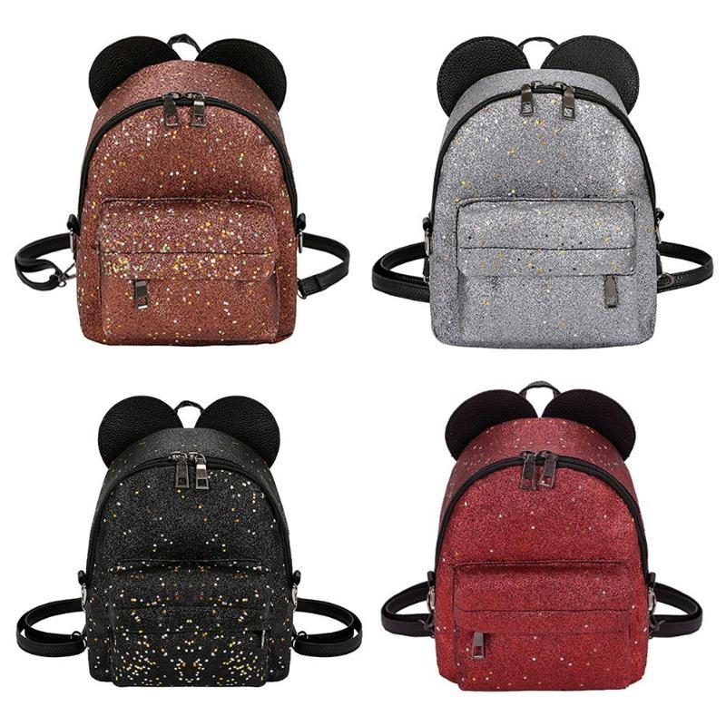 3deb59a5ef72 Women Shining Sequins PU Leather Small Backpacks Cute School Bags Girls  Princess Shoulder Bag 2018 New Fashion Female Backpack Osprey Backpacks  Book Bags ...