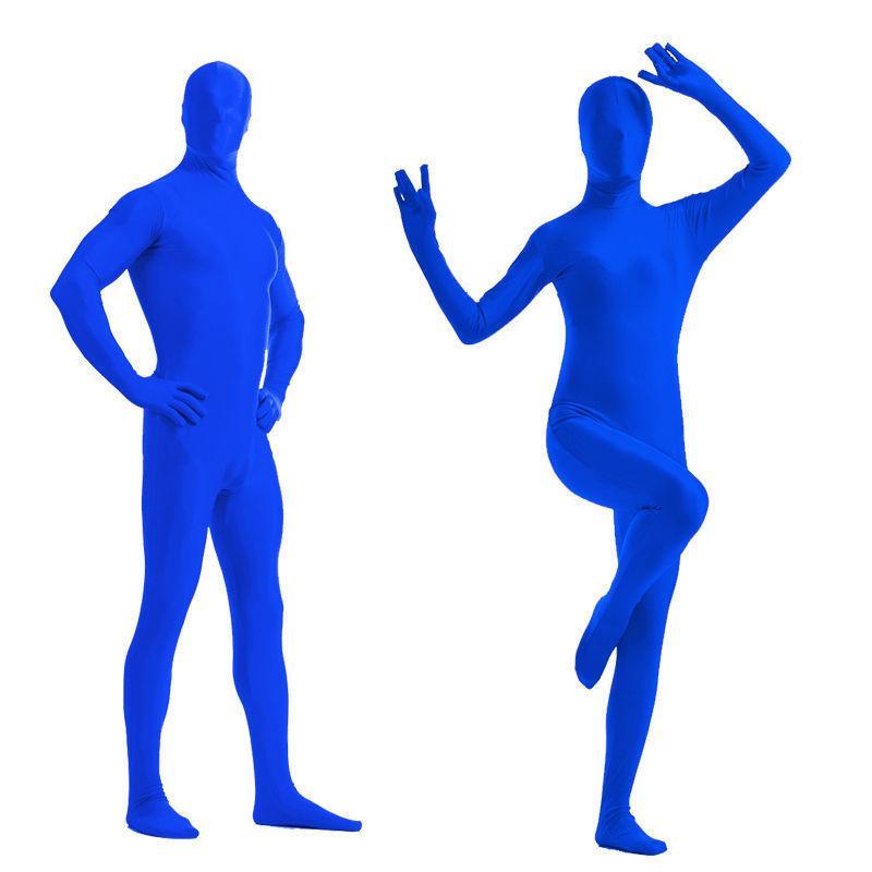 Full Body Bright Lycra Spandex Traje de Zentai Disfraz Fiesta Skin Tight Seleccionar color