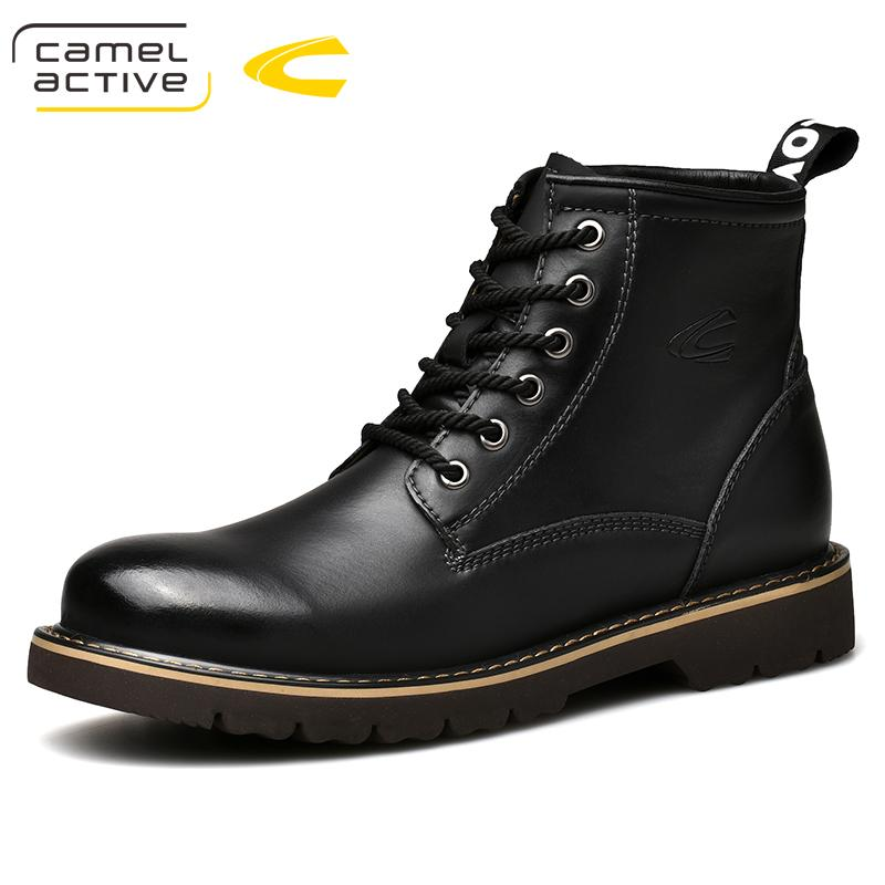 bc6b277f0e Camel Active New Men'S Boots Autumn Winter Casual Man Genuine Leather Boots  Youth Comfortable Men Ankle Girls Boots Black Ankle Boots From Nevada, ...