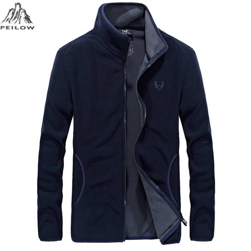 1734dc5530e PEILOW Spring Fall Mens Soft Shell Jackets And Coats Slim Fit Bomber ...