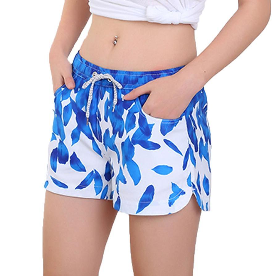 073e453857 Womens Swimming Shorts Trunks Quick Dry Beach Surfing Running Swimming  Water Pants Trunks costume da bagno donna 2018 New