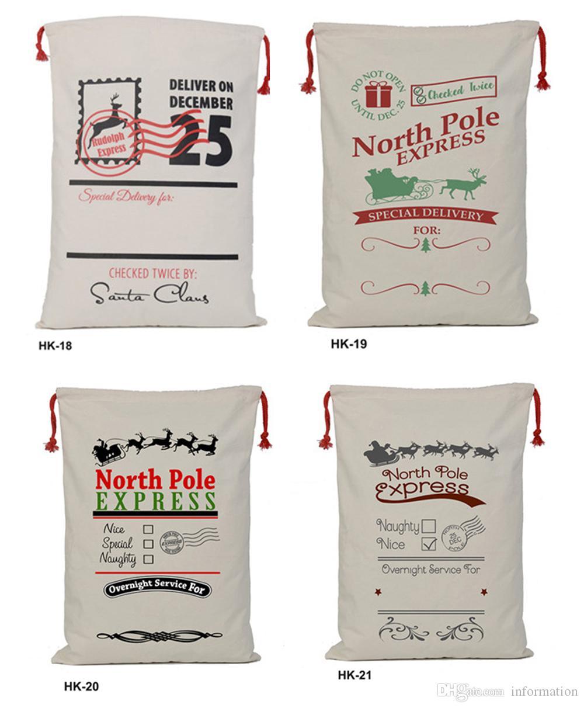 Großhandel 32 Farben Weihnachtsgeschenk Taschen Große Organische ...