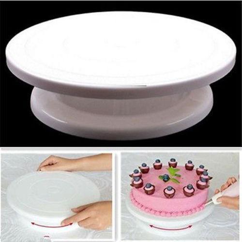 1 Pc Rotating Cake Decorating Stand Hot Sale Revolving Sugarcraft Platform Swivel Plate Turntables Baking Tools Home & Garden
