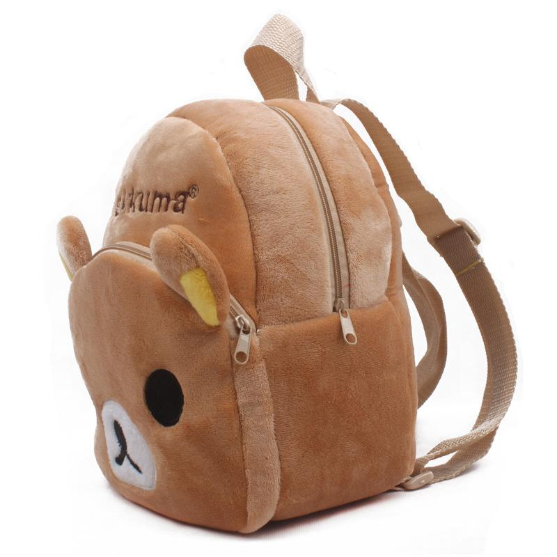 Hot Sale Rilakkuma Brown Bear Baby Plush School Bags Kids Backpack Lovely Design Mini For Kindergarten Boy Birthday Gift Picnic Backpacks