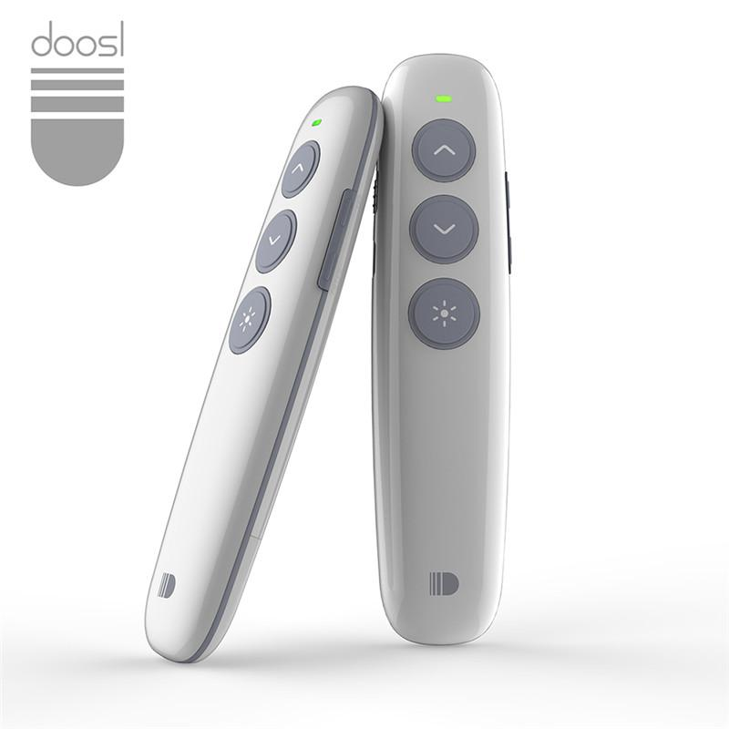 Doosl Rechargeable Wireless Presenter PowerPoint Remote Control RF 2.4GHz Wireless Presenter Laser Pointer Presentation Flip Pen