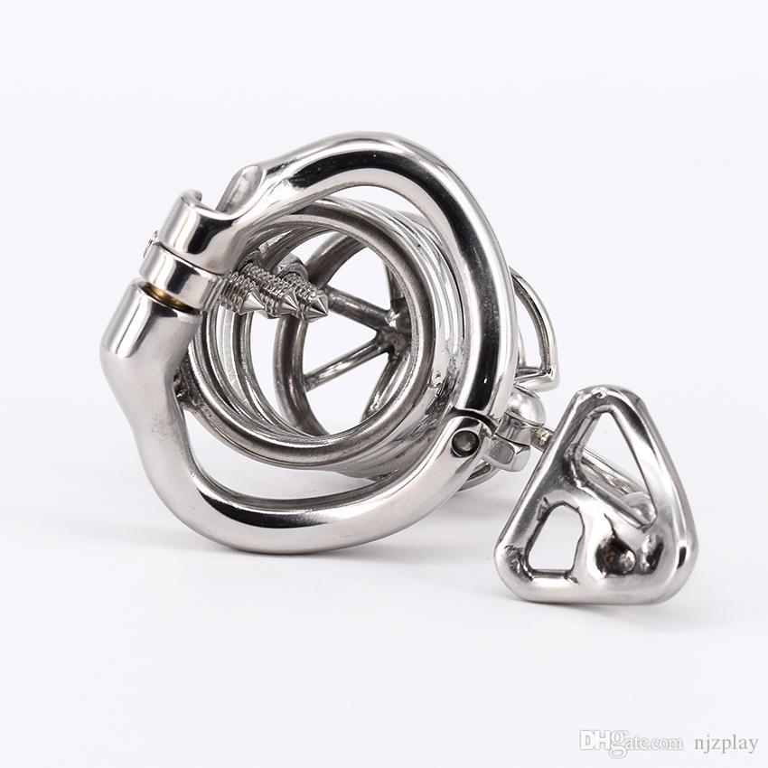 Unique Design Male Chastity Belt Stainless Steel Chastity Cage Metal Penis Lock Chastity Penis Ring Sex Toys For Men