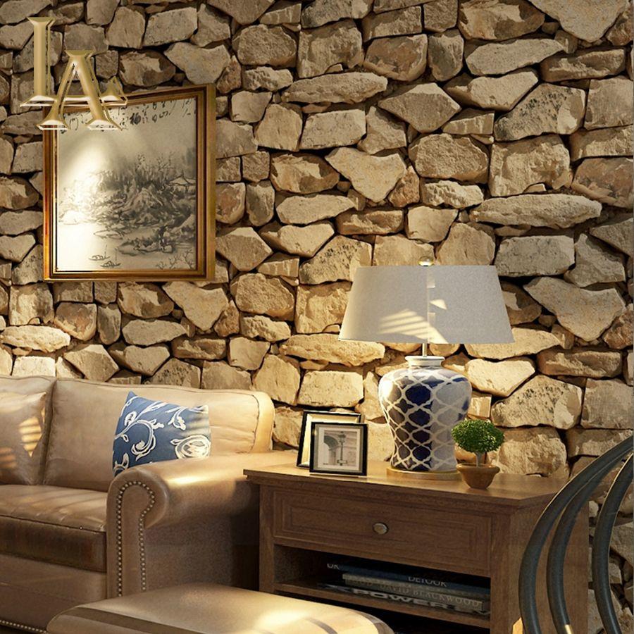 acheter vintage 3d brique pierre papier peint pour les murs maison