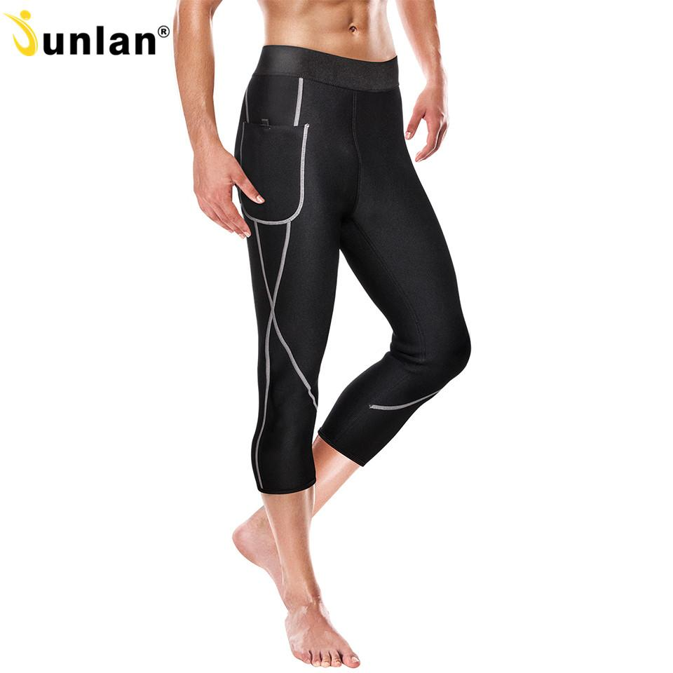 4551e5cb073 2019 Junlan Men Training Pants Neoprene Body Shaper Slimming Control Shorts  Elastic Trousers Bottom Shapewear For Reducing Weight From Saltblue