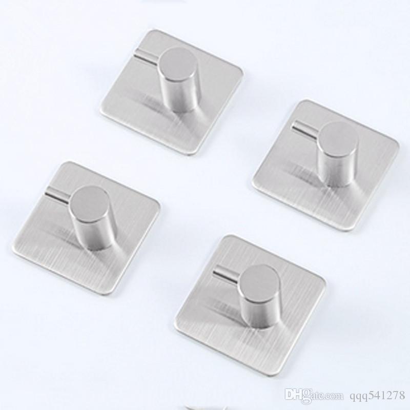 3M Sticker Adhesive Stainless Steel Hooks Wall Door Clothes Coat Hat Hanger Robe Hook Kitchen Bathroom Rustproof Towel Hooks