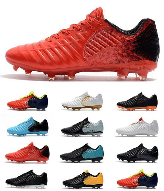 huge discount 613a8 477a6 Mens 2018 White Neymar Soccer Cleats Tiempo Legend VII FG Outdoor Soccer  Shoes Low Tiempo Ligera IV IC TF Turf Mens Ronaldo Football Shoes