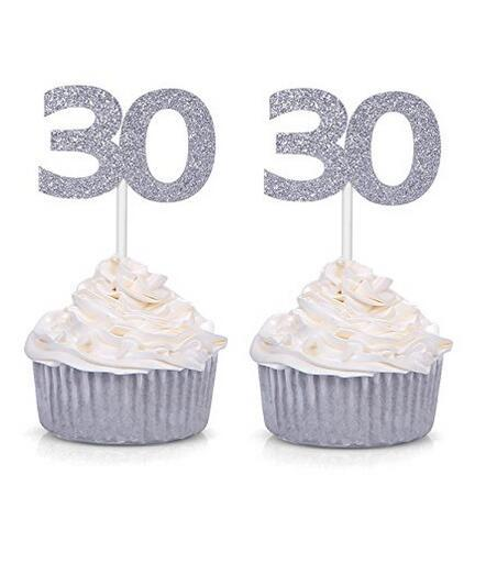 2019 Gold Silver Black Number 30 Cupcake Toppers 30th Birthday Celebration Party Decors From Miniatur 2108