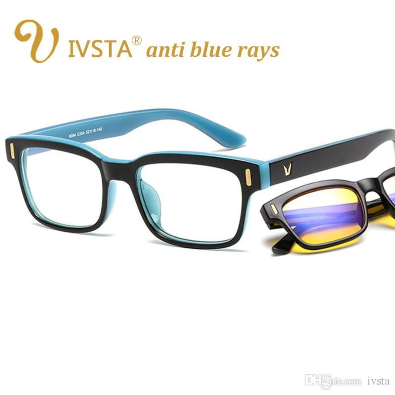 95e9c225d6 Compre IVSTA Anti Blue Rays Computer Glasses Gaming Mujeres V Gafas Hombres  UV400 Yellow Lentes Clear Light Filter Lighting FDA CE Dropshipping 8084 A  $2.6 ...