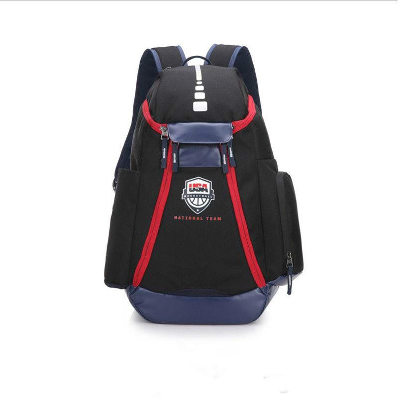 49028229c4 New Basketball Backpacks USA Team Packs Backpack Man S Bags Large Capacity  Waterproof Training Travel Bags Outdoor Packs Shoes Bags Army Backpack Water  ...