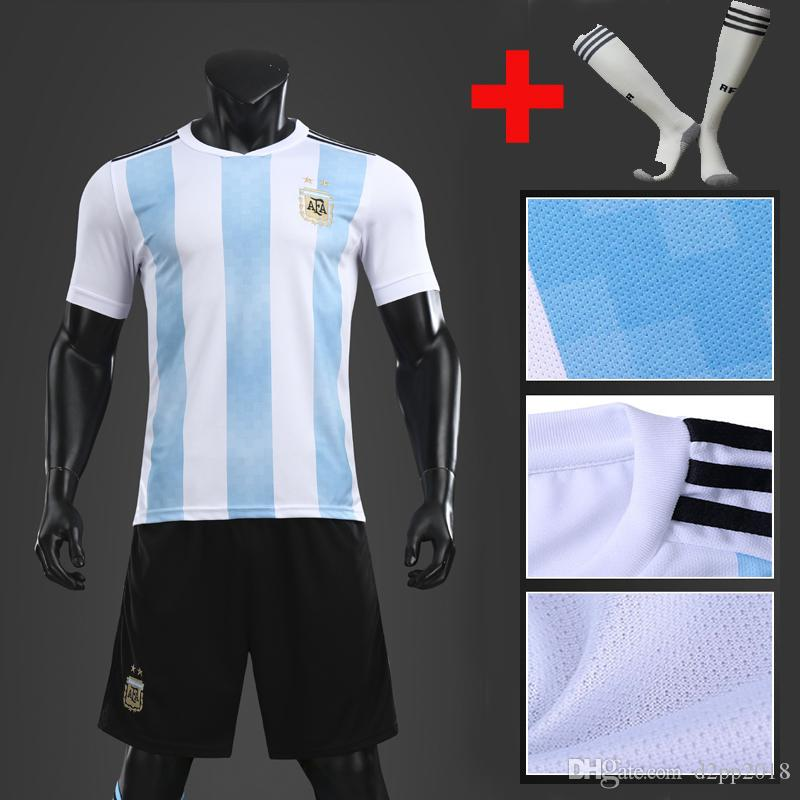 4d3705571bc 2018 World Cup Argentina Soccer Jersey 2019 Argentina Home Soccer ...