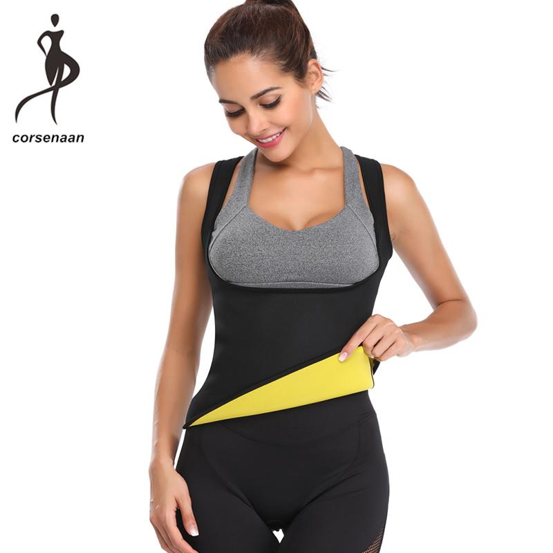 9f7455a2ef 2019 Shoulder Straps Neoprene Hot Thermo Body Shaper Fat Burner Slimming  Waist Shapewear Tank Top Sauna Sweat Vest 606  From Eggplant18