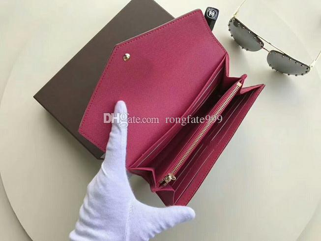 Berühmte Designer brandneue Sarah Wallet Multicolor Damier Ebene Leinwand lange Brieftasche Geldbörse Kartenhalter
