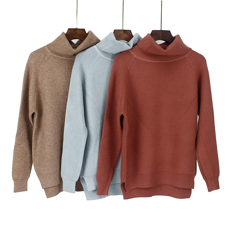 3e885b31de 2018 GIGOGOU Turtleneck Autmn Winter Warm Women Pullover Sweater ...