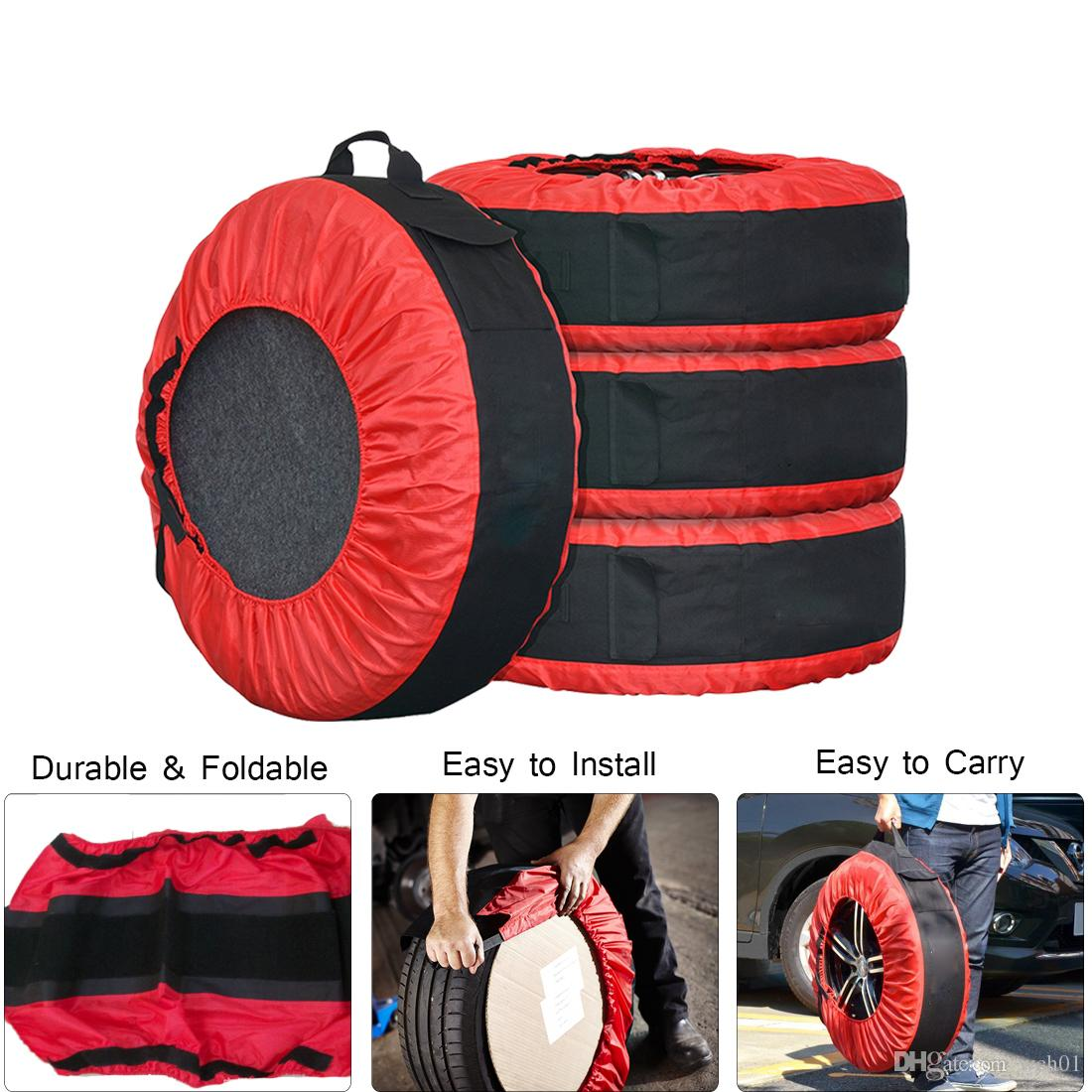 33b3ee8d6ff7 2019 30in Tire Tote Cover Adjustable Waterproof Spare Seasonal Tire Storage  Bag For Car Off Road Truck Tire Totes From Wch01