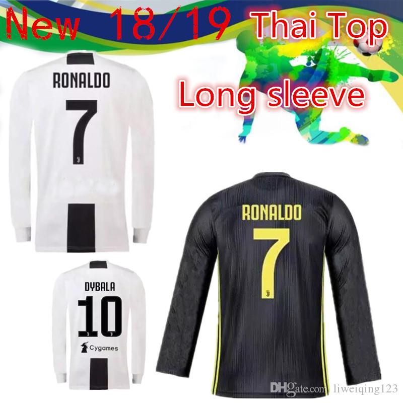 TOP 2019 CR7 Camiseta De Manga Larga Juventus HOME WHITE 18 19 Camiseta De  Fútbol RONALDO DYBALA Camiseta De Fútbol MARCHISIO MANDZUKIC PJANIC HIGUAIN  Por ... 958f342d8b774