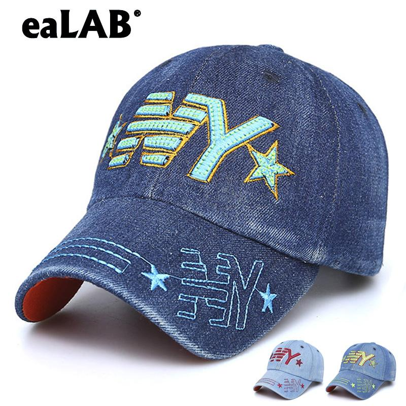 11d402f653c70 EaLAB Baseball Cap For Children Boy Dad Hat Girl Sport Casual Hat Full Caps  Letter Embroidery NY LOGO Bones Baseball Fitted Cap Brixton Hats Trucker Cap  ...