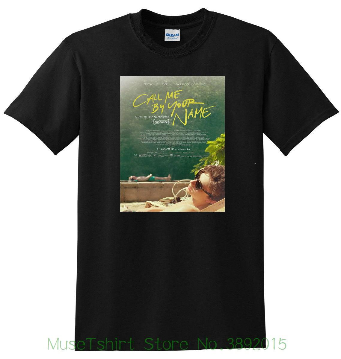 New Call Me By Your Name T Shirt Movie Poster Tee Small Medium