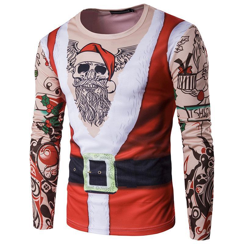 Großhandel FJUN Weihnachten Shirt Neujahr Männer Frohe Weihnachten T ...