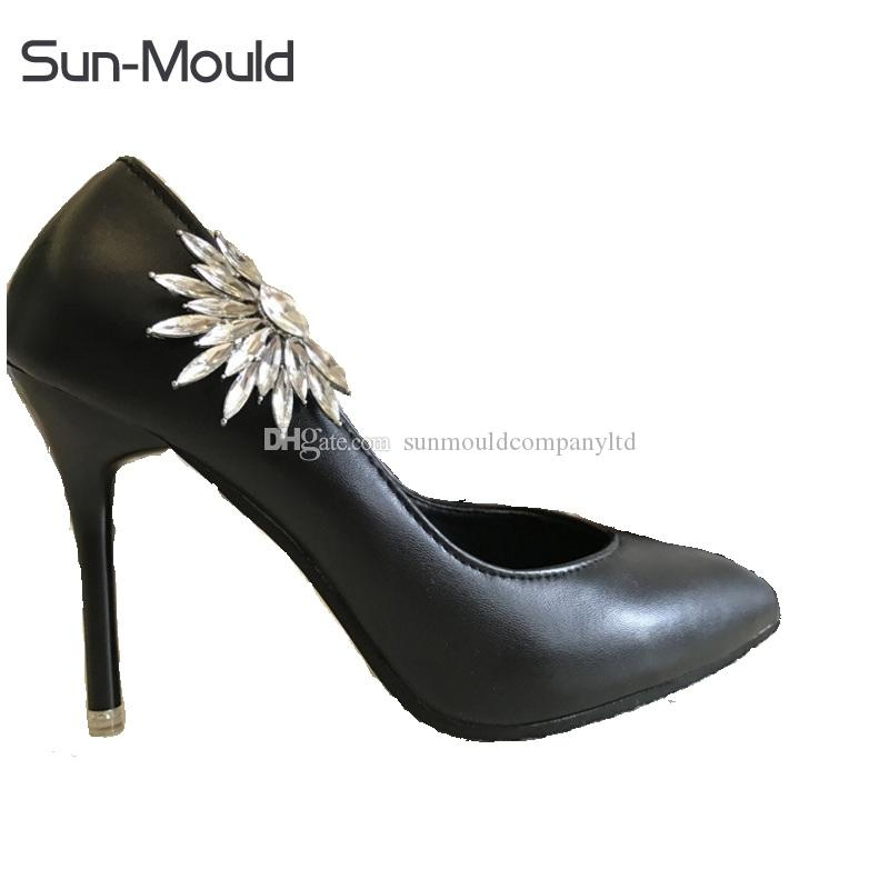 Fashion NEW woman shoes flower charms clips bridal high-heel pumps accessories crystal diamond flats boots wedding decoration buckle
