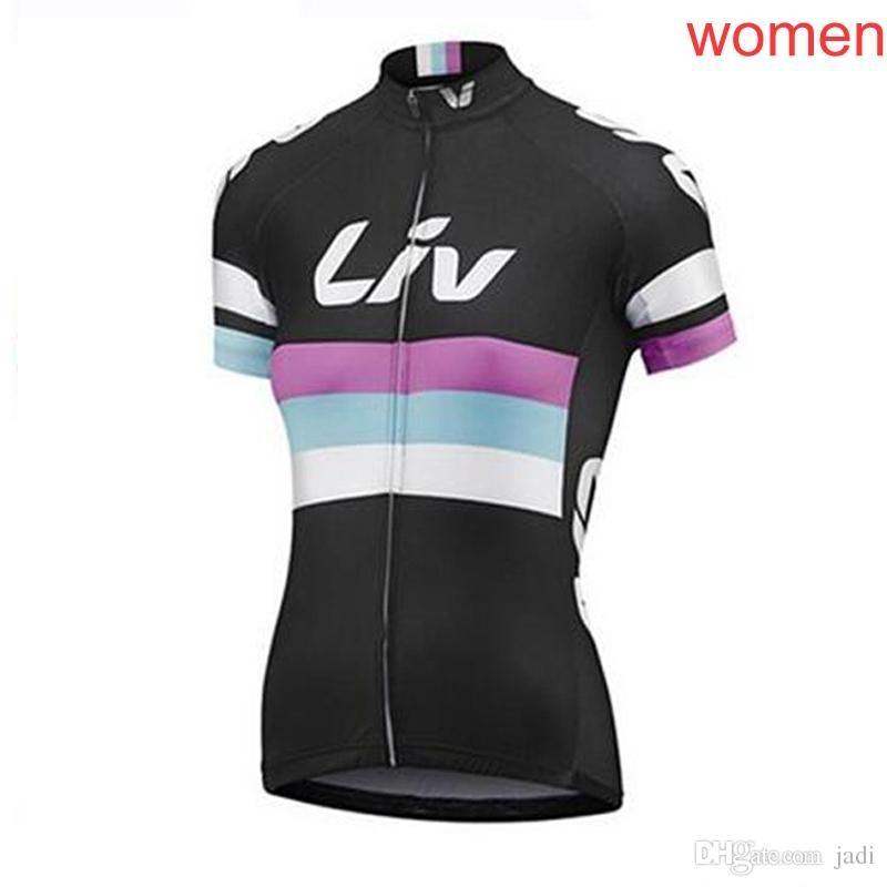 2018 New Pro Liv Team Women Cycling Short Sleeve Jersey Cycling ... f31975793