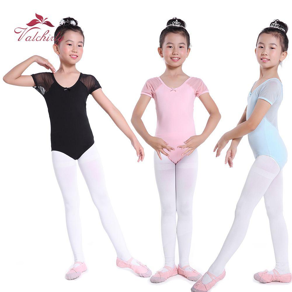 dd594884b7 Compre Rosa Ballet Leotard Vestido De Dança Desgaste Criança Collant  Ginástica Maiô Para Meninas Três Cores Disponíveis De Primali