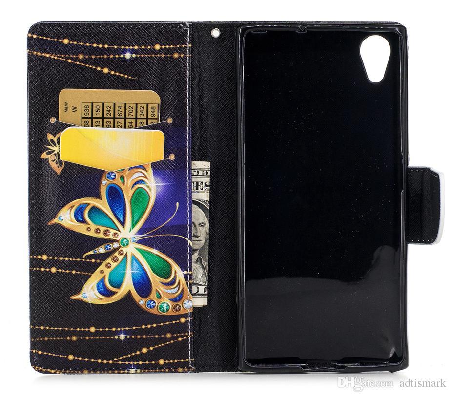 Sony Xperia XA1 XA 1 Plus Custodia Flip Cover in pelle di lusso con motivo astratto Custodie SONY Xperia XA1 Plus Custodia