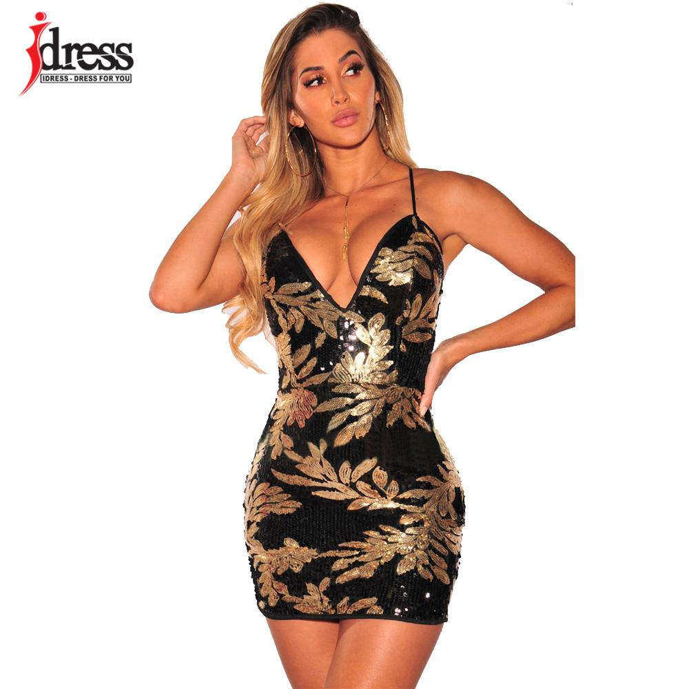 81dd62cfc9 2019 IDress High Quality Luxury Stunning Women Sexy 2018 Summer Backless Bodycon  Dress Spaghetti Strap Club Night Out Party Dresses From Odeletta, ...