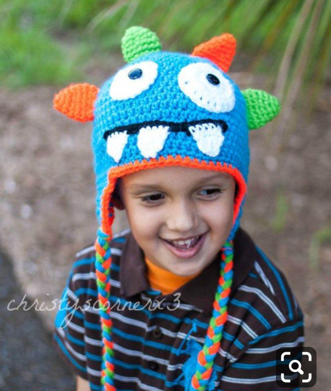 b81d10a466f Autumn Winter Crochet Monster Knitted Cap Newborn Infant Toddler Baby Boys  Girls Christmas Hat Children Kids Cartoon Animal Beanie Headdress Baby Hat  ...