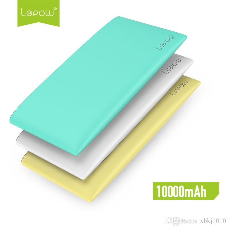 Classic Lepow Mint 10000mah mobile power bank Color super thin large capacity mobile power supply with LED display screen