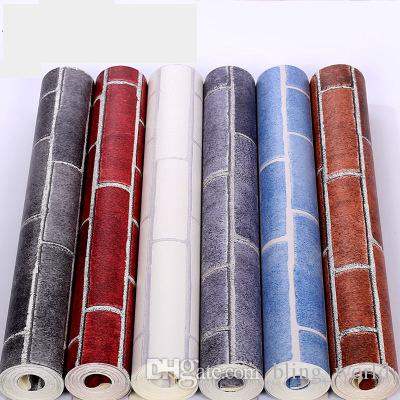 Brick Stone Wallpaper PVC Modern Living Room Background Vintage 3D Bedroom Wall Paper Covering Home Decoration YFA226
